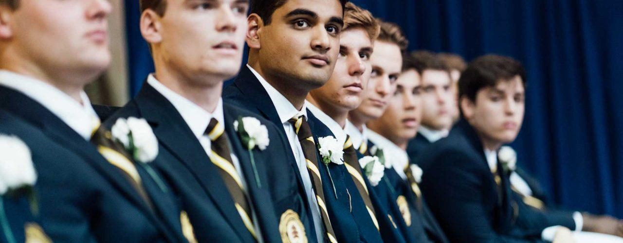 men at graduation