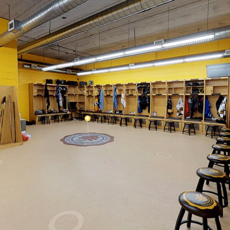 varsity hockey locker room